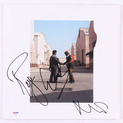 "Roger Waters & Nick Mason Signed Pink Floyd ""Wish You Were Here"" Vinyl"