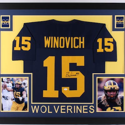 promo code 76852 72b1b Chase Winovich Signed Michigan Wolverines 35x43 Custom ...