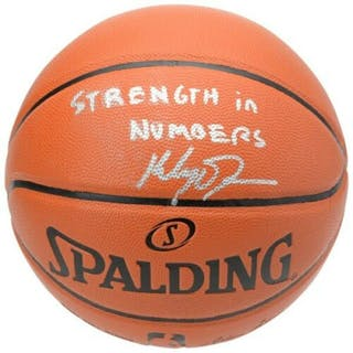 """Klay Thompson Signed Spalding Basketball Inscribed """"Strength in Numbers"""""""
