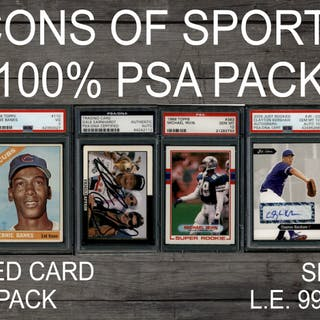 """780eaecf379 """"ICONS OF SPORTS"""" 100% ALL PSA DNA Mystery Box Series 3"""