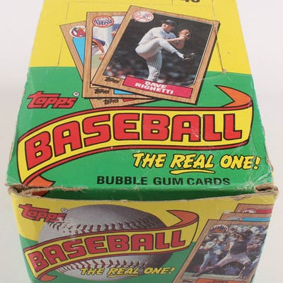 1987 Topps The Real One Bubble Gum Baseball Cards Box With
