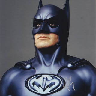 "George Clooney Signed ""Batman & Robin"" 11x14 Photo (PSA COA)"