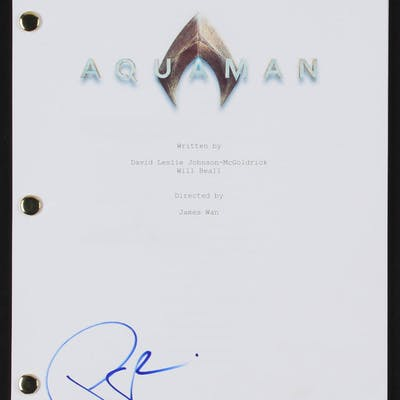 "Patrick Wilson Signed ""Aquaman"" Full Movie Script (Beckett COA)"