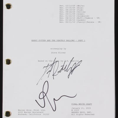 """Daniel Radcliffe & Rupert Grint Signed """"Harry Potter and the Deathly"""