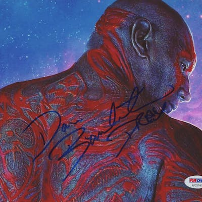 "Dave Bautista Signed ""Guardians of the Galaxy"" 8x10 Photo Inscribed"