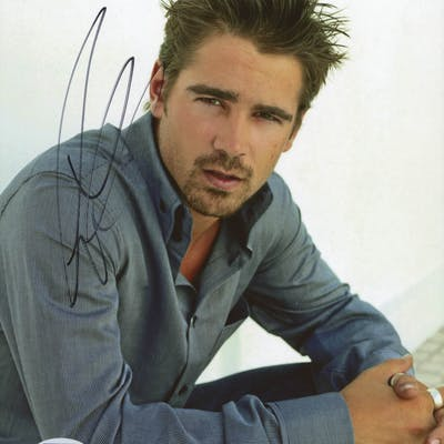 Colin Farrell Signed 8x10 Photo (PSA COA)