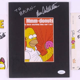 "Lot of (3) Dan Castellaneta Signed ""The Simpsons Movie"" Items with"