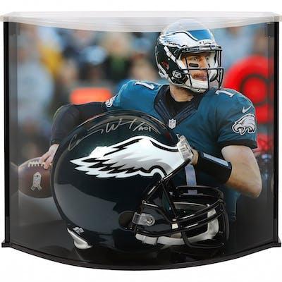 the latest 418b1 87ff2 Carson Wentz Signed Philadelphia Eagles Full-Size Helmet ...