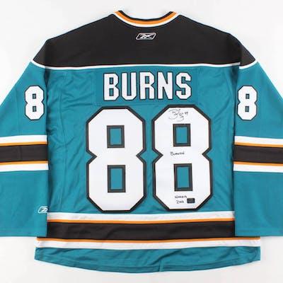 pretty nice 6804f 3e6d5 Brent Burns Signed San Jose Sharks Jersey Inscribed
