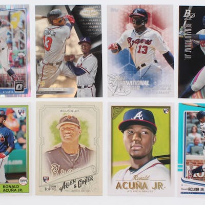 Lot Of 12 Ronald Acuna Jr Baseball Cards Barnebys