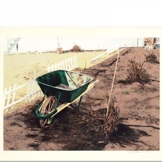 "William Nelson Signed ""The Wheelbarrow"" Limited Edition 28x22 Lithograph"