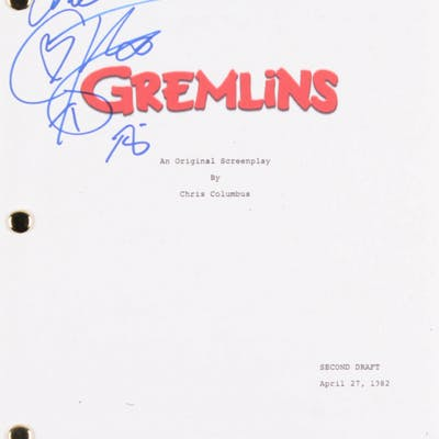 "Corey Feldman Signed ""Gremlins"" Full Movie Script Inscribed ""Love"" (PSA COA)"