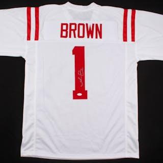 the latest b30d8 4a9b4 A. J. Brown Signed Ole Miss Rebels Jersey (JSA COA ...