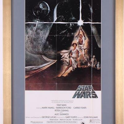 Star Wars Episode Iv A New Hope 17x25 Custom Framed Movie Poster Display Barnebys