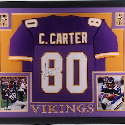 outlet store 654e1 bfca7 Cris Carter Signed Minnesota Vikings 35x43 Custom Framed ...