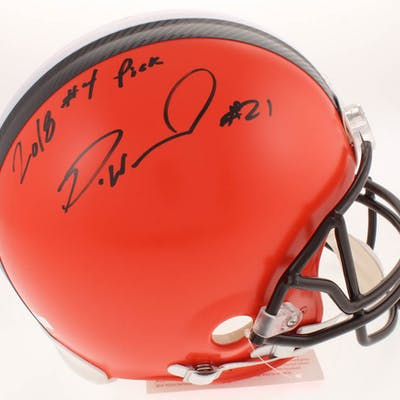 Denzel Ward Signed Cleveland Browns Full-Size Authentic On-Field Helmet