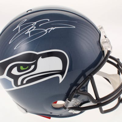reputable site 79280 ac0e4 Brian Bosworth Signed Seattle Seahawks Throwback Full-Size ...