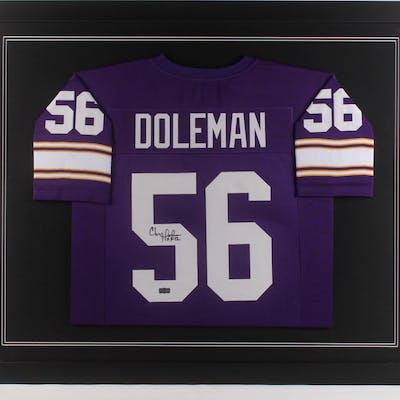purchase cheap c133b 3777e Chris Doleman Signed Minnesota Vikings 35.5x43.5 Custom ...