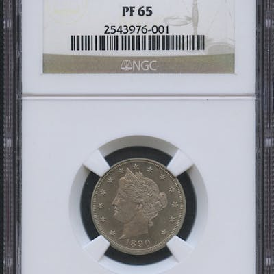 "1890 5¢ Liberty Head ""V"" Nickel - Proof (NGC PF 65)"
