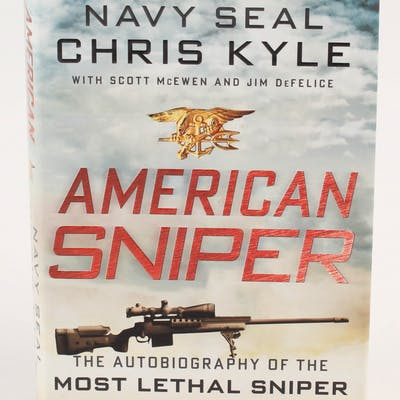 """Chris Kyle Signed """"American Sniper"""" Hard Cover Book (Becket LOA)"""