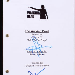 """Norman Reedus & Andrew Lincoln Signed """"The Walking Dead: Tell It To"""