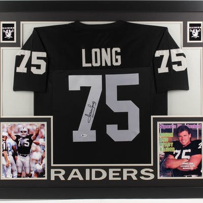 promo code 7d4a8 347a3 Howie Long Signed Oakland Raiders 35x43 Custom Framed Jersey ...