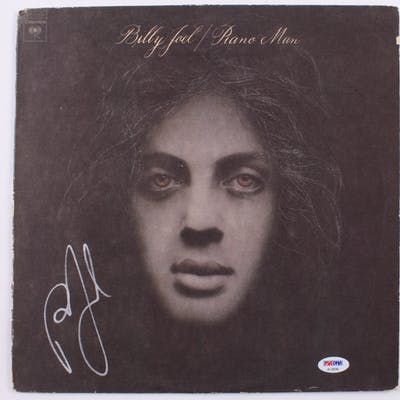 "Billy Joel Signed ""Piano Man"" Vinyl Record Album (PSA COA)"