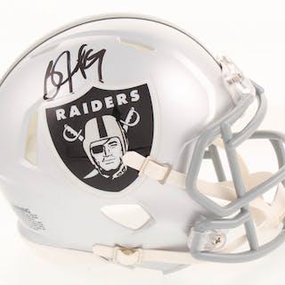 Bo Jackson Signed Oakland Raiders Speed Mini-Helmet (Radtke COA &
