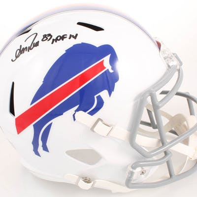 "Andre Reed Signed Buffalo Bills Full-Size Speed Helmet Inscribed ""HOF"