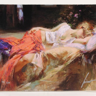 """Pino Daeni Signed """"Day Dream"""" 10x12 Limited Edition Giclee on Canvas"""