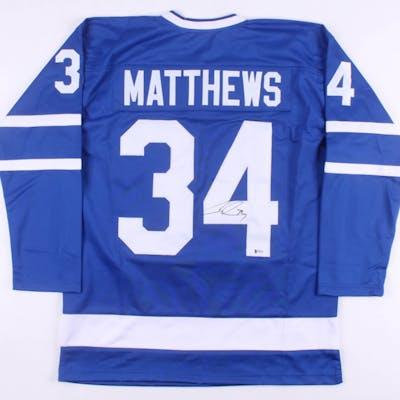 new product 29091 b63ab Auston Matthews Signed Toronto Maple Leafs Jersey (Beckett ...