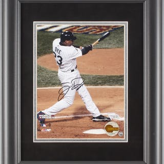 Jermaine Dye Signed Chicago White Sox 2005 World Series 14x17 Custom