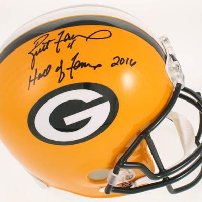 Brett Favre Signed Green Bay Packers Full-Size Limited Edition Helmet