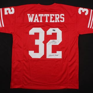 e322e0a8 Ricky Watters Signed San Francisco 49ers Jersey Inscribed