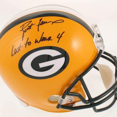 Brett Favre Signed LE Green Bay Packers Full-Size Helmet Inscribed