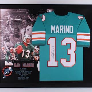c1f23b1b Dan Marino Signed Miami Dolphins 35.5x43.5 Custom Framed Jersey (JSA  Hologram)