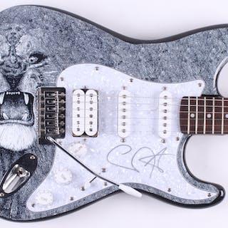 "Carlos Santana Signed Fender 39"" Electric Guitar (JSA ALOA)"