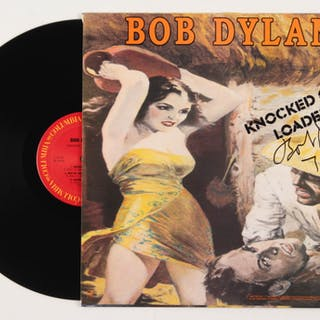 """Bob Dylan Signed """"Knocked Out Loaded"""" Vinyl Record Album Inscribed"""