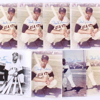 Lot of (8) Monte Irvin Signed New York Giants 8x10 Photos (JSA ALOA)