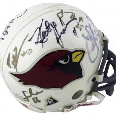 1d8f859c 1998 Arizona Cardinals Mini Helmet Team-Signed by (8) with Aeneas ...