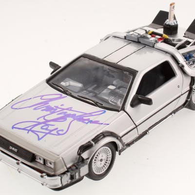 "Christopher Lloyd Signed ""Back to the Future Part II"" DeLorean 1:24"