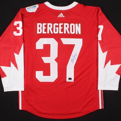 Patrice Bergeron Signed Team Canada 2016 World Cup of Hockey Jersey