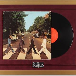 The Beatles 19x24 Custom Framed Vinyl Record Display