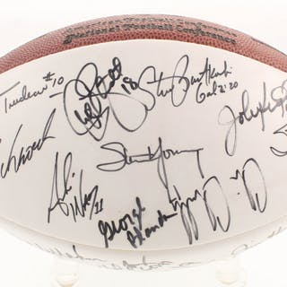 NFL Quarterbacks Multi-Signed NFL Official Football with (28) Signatures