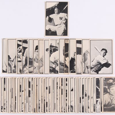 Complete Set (64/64) of 1953 Bowman Black & White Bsseball Cards with