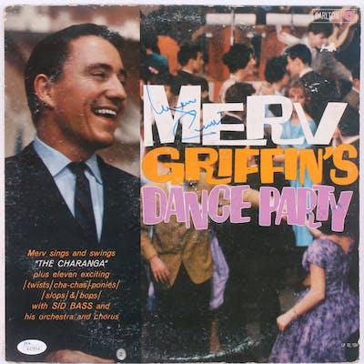 "Merv Griffin Signed ""Merv Griffin's Dance Party"" Vinyl Record Album"