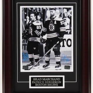 Patrice Bergeron & Brad Marchand Signed Boston Bruins 13.75x17.75