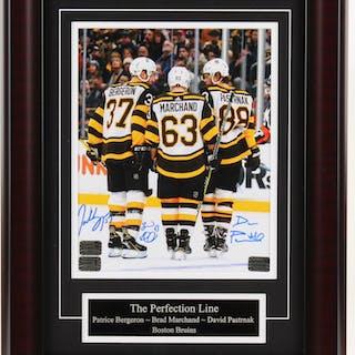 Brad Marchand, David Pastrnak, & Patrice Bergeron Signed Boston Bruins
