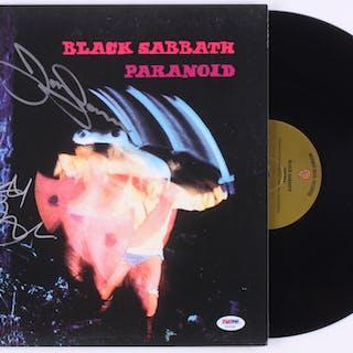 "Ozzy Osbourne & Tony Iommi Signed Black Sabbath ""Paranoid"" Vinyl Record"