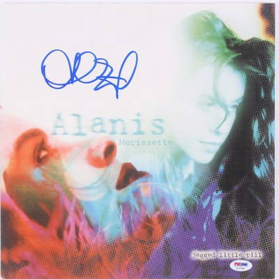 "Alanis Morissette Signed ""Jagged Little Pill"" Vinyl Record Album (PSA COA)"